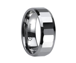 "Tungsten carbide ring with wide transverse faces ""LABRUFUS"""