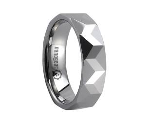 """Tungsten carbide ring with diagonal faces """"DIRASO"""""""