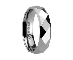"Tungsten carbide ring with diamond shaped faces ""FIDANCIT"""