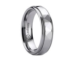 "Tungsten carbide ring with triangular faces ""ASPETRI"""