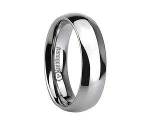 "Classic rounded tungsten carbide ring ""NORBO"""