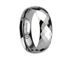"""Tungsten carbide ring with huge amount of faces """"VASTURA"""""""