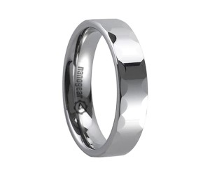 """Tungsten carbide ring with faces around the edge """"INTREXO"""""""