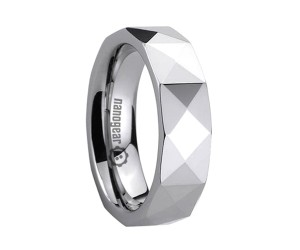 """Tungsten carbide ring with triangular shape faces """"DITRINO"""""""