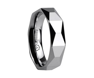 """Tungsten carbide ring with trapeze shape faces """"TRANSIVA"""""""