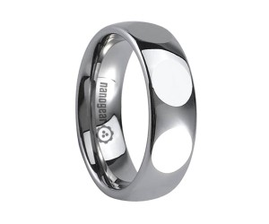 """Tungsten carbide ring with oval faces """"CREVELLI"""""""