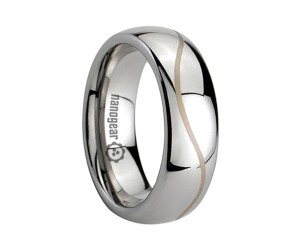 "Classic tungsten carbide ring with engraving ""MASTEARE"""