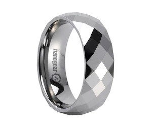 "Tungsten carbide ring with many square faces ""TERMANIX"""