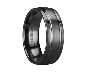 """Brushed ceramic ring with two grooves """"EMARTON"""""""
