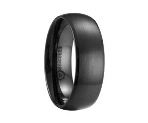 "Classic brushed ceramic ring ""IRREMINO"""