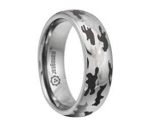 """Tungsten carbide ring with camo engraving """"SELFER"""""""