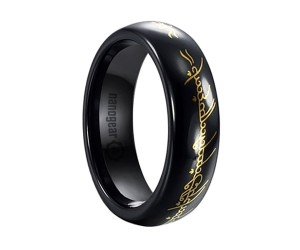 "Ceramic ring from The Lord Of The Rings movie ""THE ONE RING"""