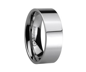 "Classic flat tungsten carbide ring ""PLATTUS"""