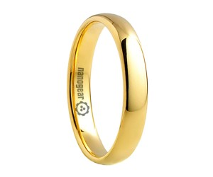 "Gold classic rounded tungsten carbide ring ""NORBO"""