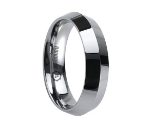 "Tungsten carbide ring with two faces around circumference ""ORACUTA"""