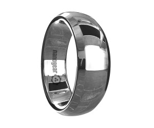 """Rounded tungsten carbide ring with beveled edges """"SICRUS"""""""