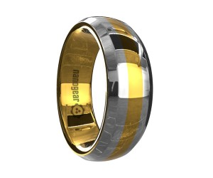 """Rounded tungsten carbide ring with beveled edges """"SICRORUS"""""""