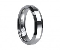 "Flat tungsten carbide ring with beveled edges ""LIMIBRUM"""