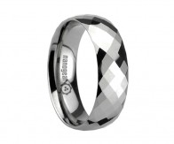 "Tungsten carbide ring with huge amount of faces ""VASTURA"""