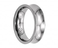 "Concave tungsten carbide ring ""VICARSII"""