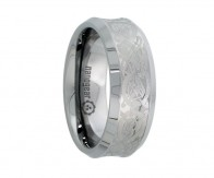 "Concave tungsten carbide ring with dragon ""VIPERIS"""