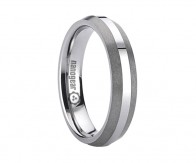 "Tungsten carbide ring with brushed edges ""TAMIRA"""