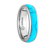 "Tungsten carbide ring with turquoise inlay ""CALLAINA"""