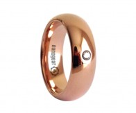 "Classic tungsten carbide ring with cubic zirconia stone ""MURETTUS"""