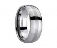 "Classic tungsten carbide ring with brushed stripe ""STARBER"""