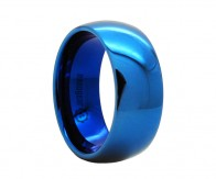 "Classic blue rounded tungsten carbide ring ""NORBO"""