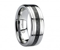 "Tungsten carbide ring with black carbon ""GENALYP"""